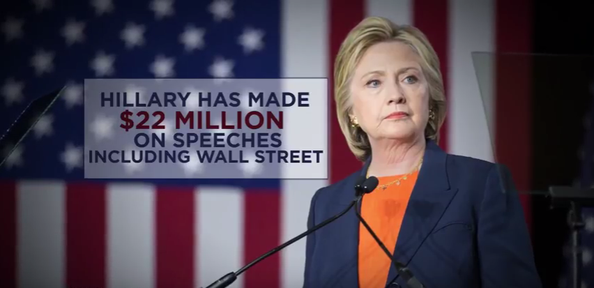 Hillary has made 22 million on speeches since leaveing the state department