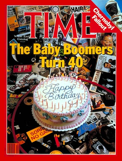 Time Magazine Cover Baby Boomers Turn 40