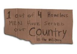 """Unity through Solutions says to the previous adminstrations """"shame on you all for neglecting our veterans."""